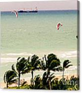The Kite Surfers Canvas Print