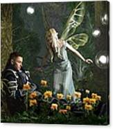 The Knight And The Faerie Canvas Print