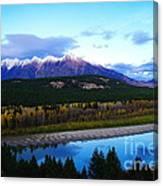 The Kootenenai River Surrounding The Canadian Rockies   Canvas Print