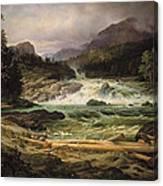 The Labro Falls At Kongsberg Canvas Print
