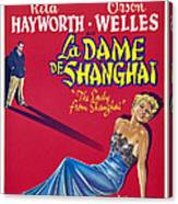 The Lady From Shanghai, Us Poster Art Canvas Print