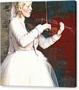 The Lady With The Violin Canvas Print