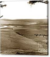The Lagoon At The Mouth Of The Carmel River  From Fish Ranch California 1905 Canvas Print