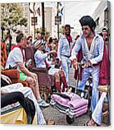 The Laissez Boys At Running Of The Bulls In New Orleans Canvas Print