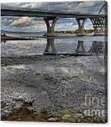 The Lake Champlain Bridge From Cown Point Canvas Print