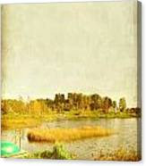 The Lake In Autumn Canvas Print