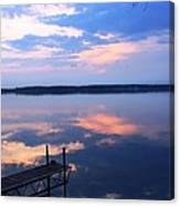 The Lake Is A Mirror Canvas Print