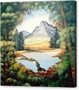 The Lake Path Canvas Print