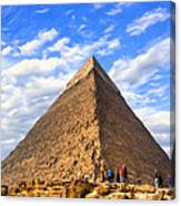 The Last Ancient Wonder - Egyptian Pyramid Canvas Print