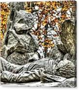 The Last Full Measure - Gettysburg National Military Park Autumn Canvas Print