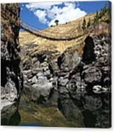 The Last Inca Rope Bridge Canvas Print