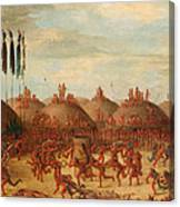 The Last Race. Mandan O-kee-pa Ceremony Canvas Print