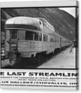 The Last Streamliner Poster Canvas Print