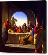 The Last Supper By Carl Heinrich Bloch Canvas Print