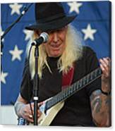 The Late Great Johnny Winter Canvas Print