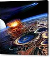 The Late Heavy Bombardment Canvas Print