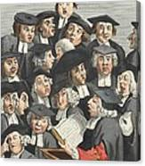 The Lecture, Illustration From Hogarth Canvas Print
