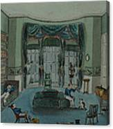 The Library, C.1820, Battersea Rise Canvas Print
