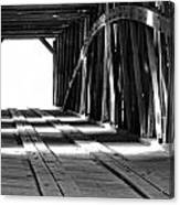 The Light At The End Of The Bridge Canvas Print