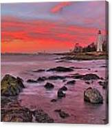 The Light House In New Haven Canvas Print