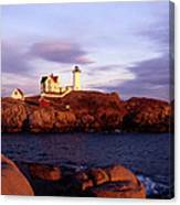 The Light On The Nubble Canvas Print