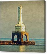 The Lighthouse And The Fisherman Canvas Print