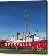 The Lightship Overfalls Canvas Print