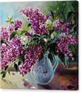 The Lilac On The Window Canvas Print