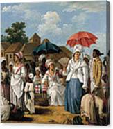 The Linen Market. Santo Domingo Canvas Print