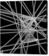 The Lines Of Martha Graham L Bw Canvas Print