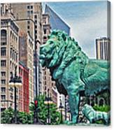 The Lions Of Chicago Canvas Print