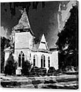 The Little Church On The Corner Canvas Print