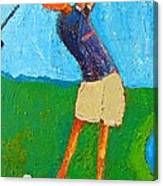 The Little Golfer Canvas Print