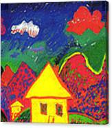 The Little House In The Montains Canvas Print
