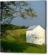 The Little White Barn Canvas Print