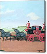 The Liverpool And London Royal Mail Coach, 1812 Oil On Canvas Canvas Print