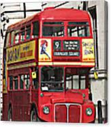 Vintage London Bus Canvas Print