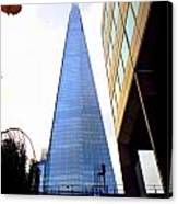 The London Shard In Blue No4 Canvas Print