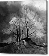 The Lonely Grave Canvas Print