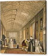 The Long Gallery At Lanhydrock Canvas Print