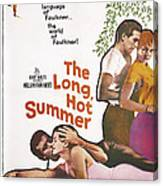 The Long, Hot Summer, Us Poster Canvas Print