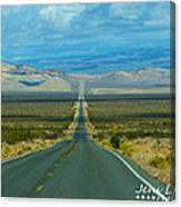 The Long Road Through Death Valley Canvas Print