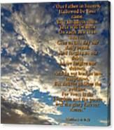 The Lords Prayer Canvas Print