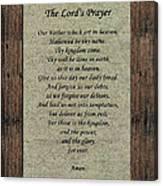 The Lord's Prayer Canvas Print