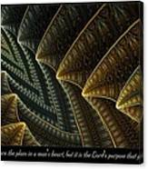 The Lord's Purpose Canvas Print