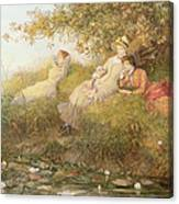The Lotus Eaters, 1893 Canvas Print