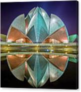 The Lotus Temple Canvas Print