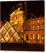 The Louvre At Night Canvas Print