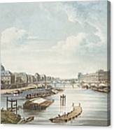 The Louvre, From Views On The Seine Canvas Print