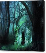 The Lovers Cottage By Night Canvas Print